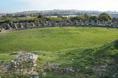 Ruins of ancient roman town Salona near Split Stock Photo