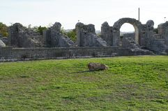 Ruins of ancient roman town Salona near Split Royalty Free Stock Photo