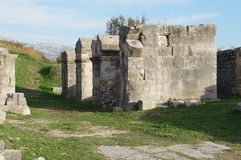 Ruins of ancient roman town Salona near Split Stock Photography