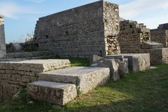 Ruins of ancient roman town Salona near Split Stock Photos