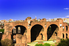 Ruins of ancient Rome royalty free stock photos