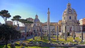Ruins in Ancient Rome, Italy. On sunny day Royalty Free Stock Photos