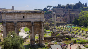 Ruins of ancient Rome, Italy. On sunny day Royalty Free Stock Photo