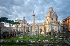 Ruins of Ancient Rome. Modern and old, past and present go side by side, all the time. Whether you are in Rome for 3 days, 3 weeks or 3 months, be prepared to Royalty Free Stock Photography