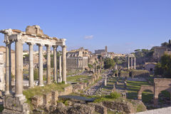 Ruins of ancient Rome preserved. Stock Photography