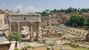 The ruins of ancient Rome reveal ancient splendor Stock Photos