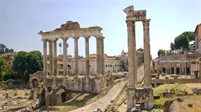 Ruins of Ancient Rome - view from the Campidoglio Royalty Free Stock Image