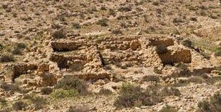 Ruins of an ancient settlement `Lost City` Negev desert,Israel. The `Lost City` is Ruins of an ancient farming settlement, located near Kibbutz Sde-Boker.Negev Stock Image
