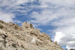 Ruins of ancient Shey Palace complex, Ladakah Royalty Free Stock Image