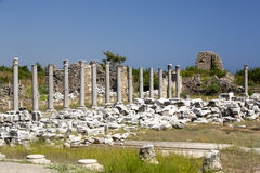 The ruins of ancient Side Royalty Free Stock Photo