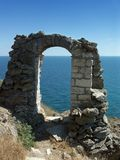 Ruins of an ancient stone arch. (Kaliakra - Bulgaria Stock Photography