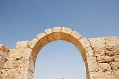 Ruins of ancient stone arch Royalty Free Stock Photography