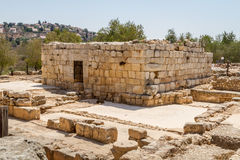 Ruins of an ancient synagogue in the Biblical Shiloh, Israel royalty free stock images
