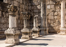 Ruins of ancient synagogue in Capernaum - Israel Royalty Free Stock Photography