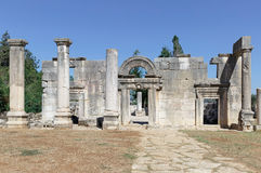 The ruins of the ancient synagogue Royalty Free Stock Image