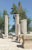The ruins of the ancient synagogue Stock Photo