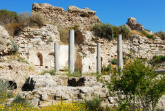 Ruins of an ancient temple Royalty Free Stock Photo