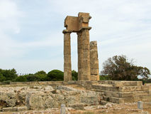 The ruins of the ancient temple of Apollo in the park Monte Smit Royalty Free Stock Photo