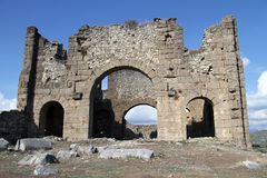 Ruins in Aspendos Stock Photo