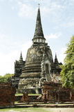 Ruins of ancient temple in Ayutthaya, Thailand Royalty Free Stock Image