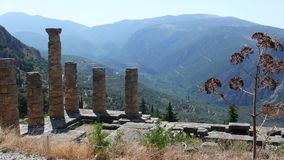 Temple Ruins at the Oracle of Delphi, Greece 4k
