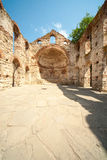 Ruins of an ancient temple complex in Nessebar, Bulgaria Royalty Free Stock Photo