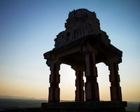 Ruins of the ancient temple in Hampi Stock Photos