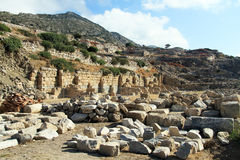 Ruins of temple in Knidos Royalty Free Stock Images