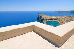 Ruins of ancient temple. Lindos. Rhodes island. Greece Royalty Free Stock Images