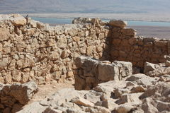 Ruins of ancient temple. Masada, Israel Royalty Free Stock Image