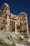 Ruins of the ancient temple at Niha Bekaa village Stock Image