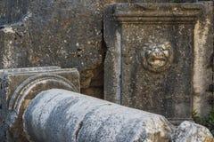 Ruins of the ancient temple at Niha Bekaa village Stock Photos