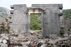 Ruins in Olimpos. Ruins of ancient temple in Olimpos, Turkey Royalty Free Stock Photography