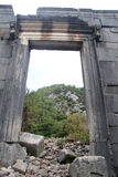 Ruinbs in Olimpos. Ruins of ancient temple in Olimpos, Turkey Royalty Free Stock Photography