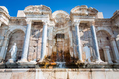 Ruins of ancient temple in Sagalassos Stock Images