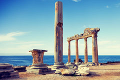 Ruins of an ancient temple Royalty Free Stock Image