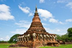 Ruins of ancient temple  in Thailand Royalty Free Stock Photo
