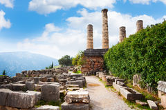The ruins of an ancient temple Stock Photography