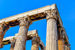 Ruins of ancient temple  Zeus, Athens, Greece Royalty Free Stock Photography