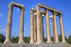 Ruins of ancient temple of Zeus, Athens Royalty Free Stock Image