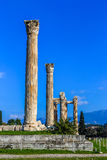 Ruins of ancient temple of Zeus, Athens, Greece Stock Photos
