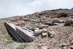 Ruins of the ancient temple of Zeus. Royalty Free Stock Image