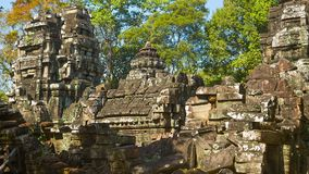 Ruins of ancient temples of the 12th century. Cambodia, Angkor stock video