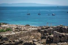 Ruins of ancient Tharros city in Sardinia Stock Photos