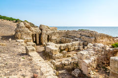Ruins of ancient Tharros in Sardinia Royalty Free Stock Photo