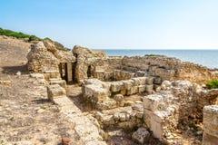 Ruins of ancient Tharros in Sardinia Royalty Free Stock Photo