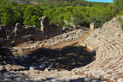 Ruins of ancient theater Royalty Free Stock Image