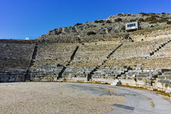 Ruins of Ancient Theater in the archeological area of Philippi Stock Photography