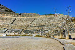 Ruins of Ancient Theater in the archeological area of Philippi,  Greece Royalty Free Stock Photo