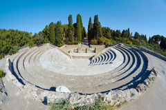The ruins of the ancient theater in Kos Royalty Free Stock Images